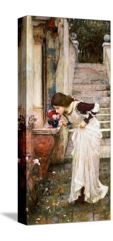 The Shrine-John William Waterhouse-Stretched Canvas Print