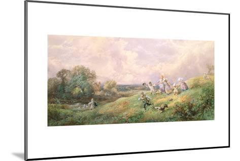 Children Running Down a Hill-Myles Birket Foster-Mounted Giclee Print