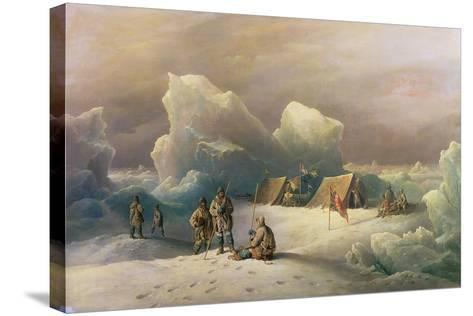 Arctic Expedition: the Most Northern Encampment of H.M.S. Alert, 1877-Richard Bridges Beechey-Stretched Canvas Print