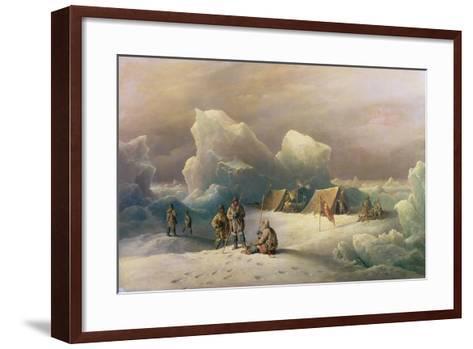 Arctic Expedition: the Most Northern Encampment of H.M.S. Alert, 1877-Richard Bridges Beechey-Framed Art Print