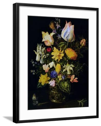 Vase of Flowers-Jan Brueghel the Elder-Framed Art Print