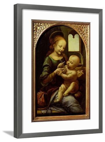 Madonna with a Flower, or Madonna Benois, C.1478-Leonardo da Vinci-Framed Art Print
