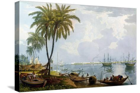 A View of Calcutta, from a Point Opposite to Kidderpore, 1837, Engraved by Robert Havell the…-James Baillie Fraser-Stretched Canvas Print