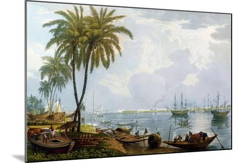 A View of Calcutta, from a Point Opposite to Kidderpore, 1837, Engraved by Robert Havell the…-James Baillie Fraser-Mounted Giclee Print