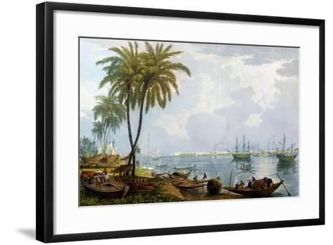 A View of Calcutta, from a Point Opposite to Kidderpore, 1837, Engraved by Robert Havell the…-James Baillie Fraser-Framed Art Print