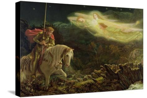 Sir Galahad - the Quest of the Holy Grail, 1870-Arthur Hughes-Stretched Canvas Print