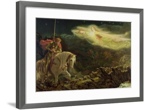 Sir Galahad - the Quest of the Holy Grail, 1870-Arthur Hughes-Framed Art Print