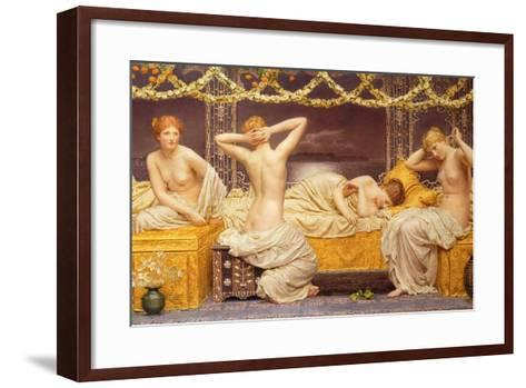 A Summer Night, 1890-Albert Joseph Moore-Framed Art Print