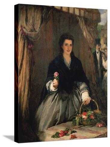 The Flower Seller, 1865-William Powell Frith-Stretched Canvas Print