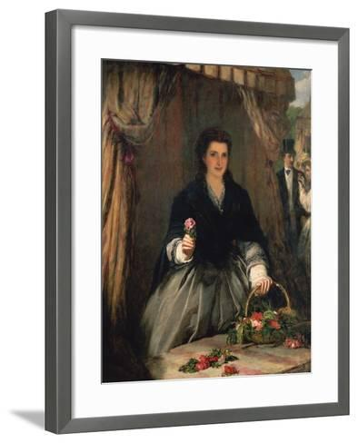 The Flower Seller, 1865-William Powell Frith-Framed Art Print