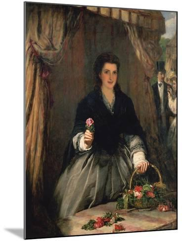The Flower Seller, 1865-William Powell Frith-Mounted Giclee Print