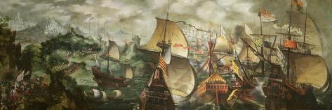 The Armada, 1588-Nicholas Hilliard-Stretched Canvas Print