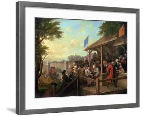 The Election III the Polling, 1754-55-William Hogarth-Framed Art Print