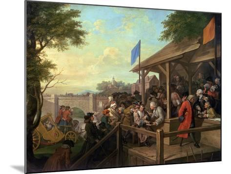The Election III the Polling, 1754-55-William Hogarth-Mounted Giclee Print