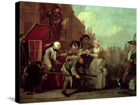 A Rake's Progress IV: the Arrested, Going to Court, 1733-William Hogarth-Stretched Canvas Print