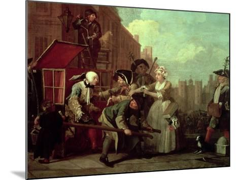 A Rake's Progress IV: the Arrested, Going to Court, 1733-William Hogarth-Mounted Giclee Print