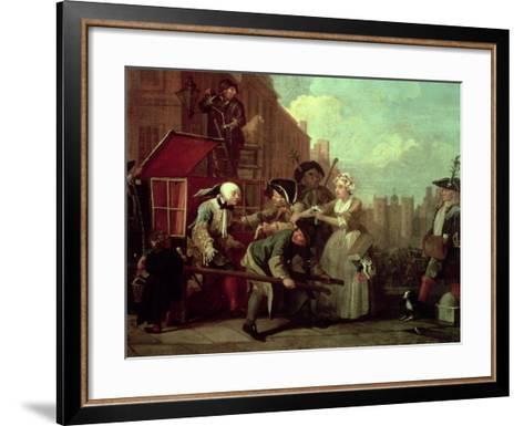 A Rake's Progress IV: the Arrested, Going to Court, 1733-William Hogarth-Framed Art Print