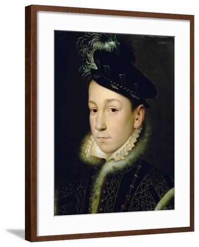 Charles IX (1550-74)-Francois Clouet-Framed Art Print