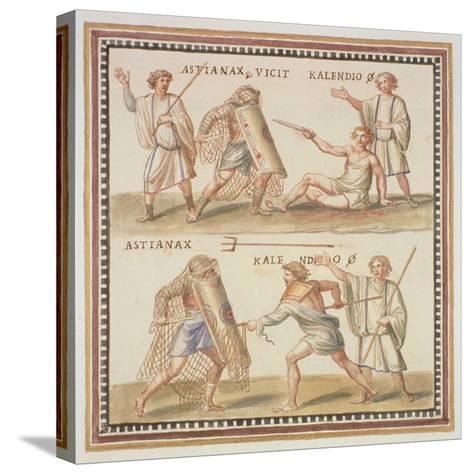 Ms Gen 1496 Plate Cxxiv Gladiators, 1674-Pietro Santi Bartoli-Stretched Canvas Print