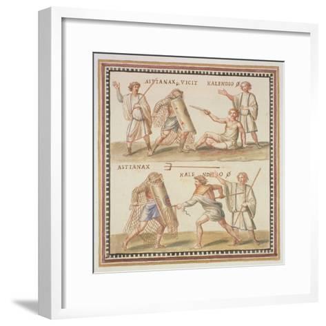 Ms Gen 1496 Plate Cxxiv Gladiators, 1674-Pietro Santi Bartoli-Framed Art Print