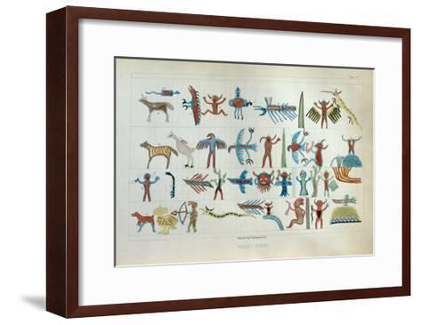 Wabeno Songs, from 'Information Respecting the History, Condition and Prospects of the Indian…-Seth Eastman-Framed Art Print