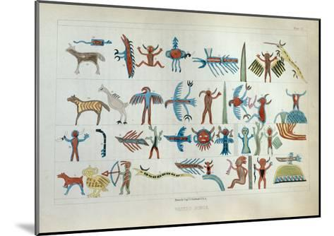 Wabeno Songs, from 'Information Respecting the History, Condition and Prospects of the Indian…-Seth Eastman-Mounted Giclee Print