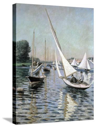 Regatta at Argenteuil, 1893-Gustave Caillebotte-Stretched Canvas Print