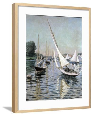Regatta at Argenteuil, 1893-Gustave Caillebotte-Framed Art Print