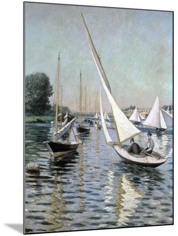 Regatta at Argenteuil, 1893-Gustave Caillebotte-Mounted Giclee Print