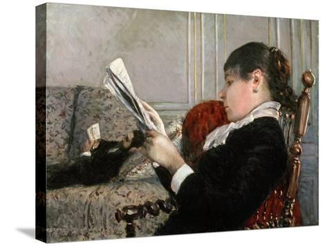 Interior, Woman Reading, 1880-Gustave Caillebotte-Stretched Canvas Print