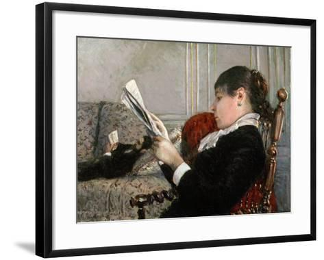 Interior, Woman Reading, 1880-Gustave Caillebotte-Framed Art Print