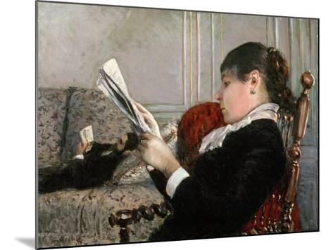 Interior, Woman Reading, 1880-Gustave Caillebotte-Mounted Giclee Print