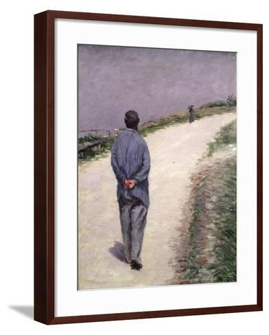 Pere Magloire on the Road to Saint-Clair, Etretat, 1884-Gustave Caillebotte-Framed Art Print