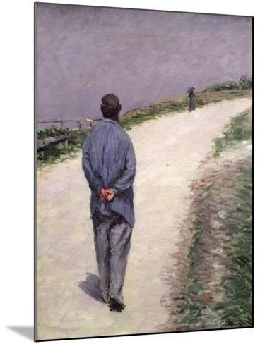 Pere Magloire on the Road to Saint-Clair, Etretat, 1884-Gustave Caillebotte-Mounted Giclee Print