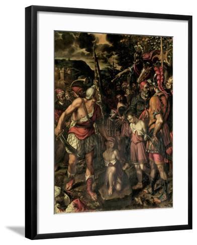 Santos Ninos Justo Y Pastor-Alonso Sanchez Coello-Framed Art Print