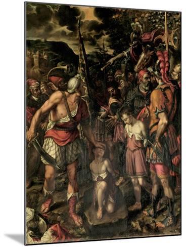 Santos Ninos Justo Y Pastor-Alonso Sanchez Coello-Mounted Giclee Print