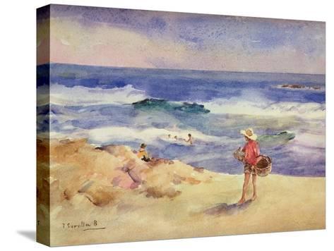 Boy on the Sand-Joaqu?n Sorolla y Bastida-Stretched Canvas Print