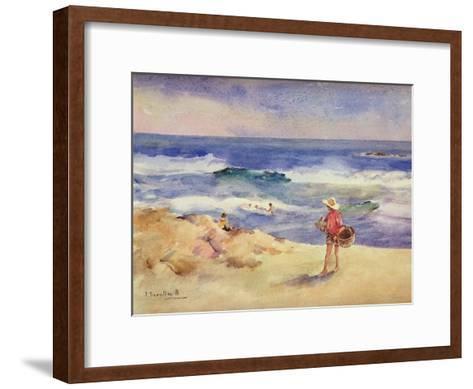 Boy on the Sand-Joaqu?n Sorolla y Bastida-Framed Art Print