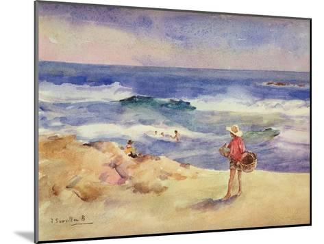 Boy on the Sand-Joaqu?n Sorolla y Bastida-Mounted Giclee Print