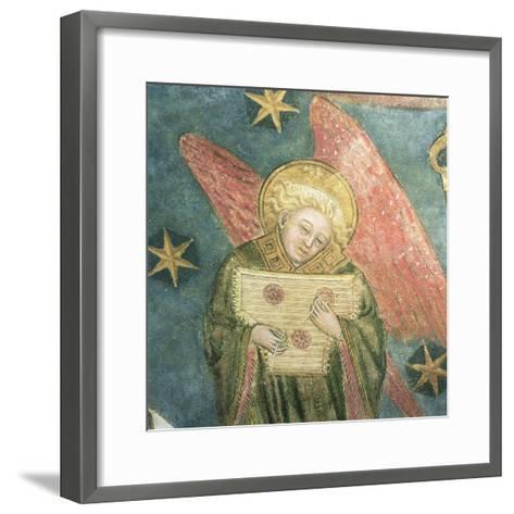 Angel Musician Playing a Psaltery, Detail from the Vault of the Crypt--Framed Art Print
