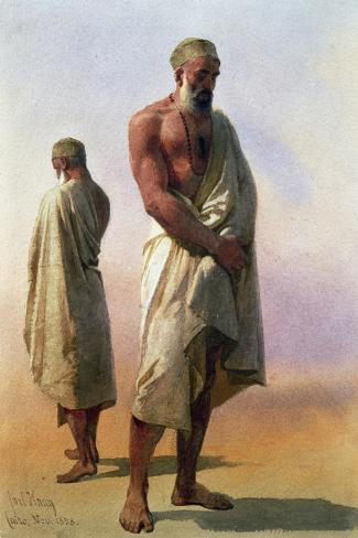 Two Dervishes, 1858-Carl Haag-Stretched Canvas Print