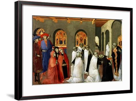 The Miracle of the Holy Sacrament, from the Predella of the Altar of the Holy Eucharist, 1423-Sassetta-Framed Art Print