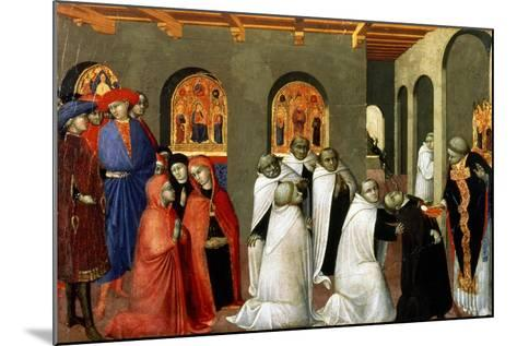 The Miracle of the Holy Sacrament, from the Predella of the Altar of the Holy Eucharist, 1423-Sassetta-Mounted Giclee Print
