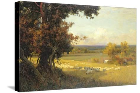 The Golden Valley-Sir Alfred East-Stretched Canvas Print