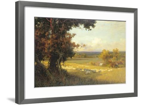 The Golden Valley-Sir Alfred East-Framed Art Print