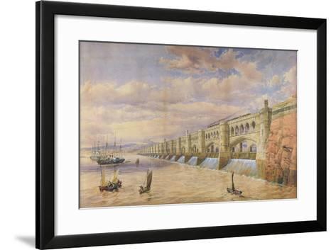 Proposed Barrage across the River Severn-Thomas Fulljames-Framed Art Print