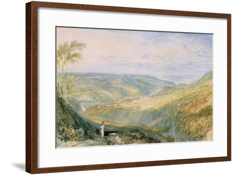 Gibside, County Durham from the South-J^ M^ W^ Turner-Framed Art Print