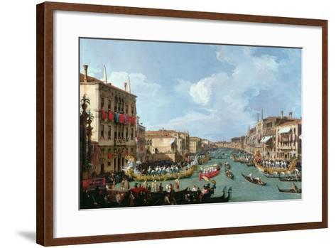 Regatta on the Grand Canal-Canaletto-Framed Art Print
