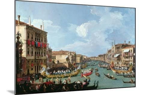 Regatta on the Grand Canal-Canaletto-Mounted Giclee Print