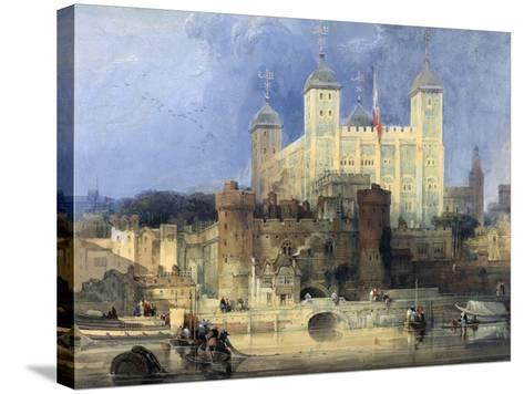 Tower of London-David Roberts-Stretched Canvas Print